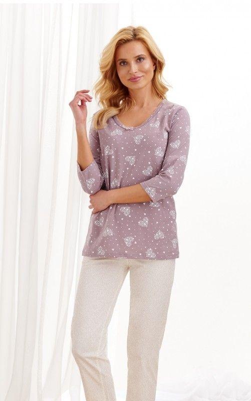 Pijama din bumbac Lidia 2446 2 XL