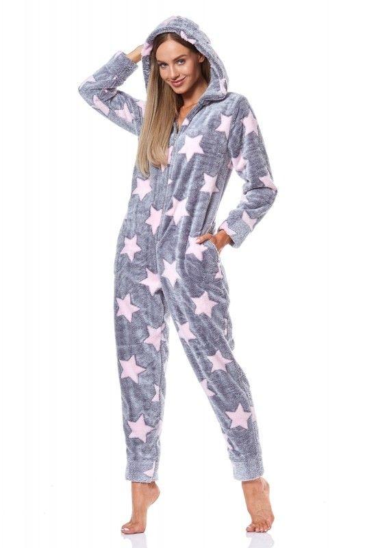 Pijama de dama tip salopeta 9151_K_PRN gwiazdy XL