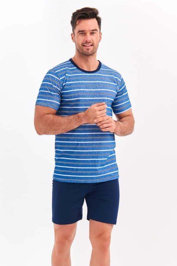 Pijama Taro Max - Albastru Jeans Albastru Jeans L
