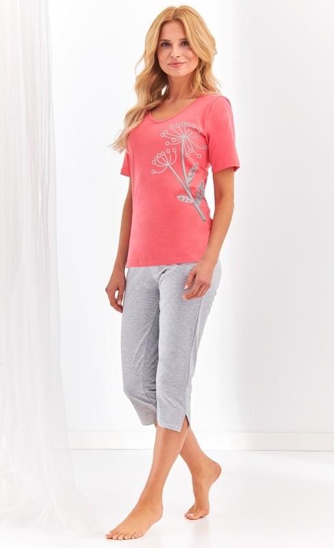 Pijama din bumbac Lila - Corai Corai XL