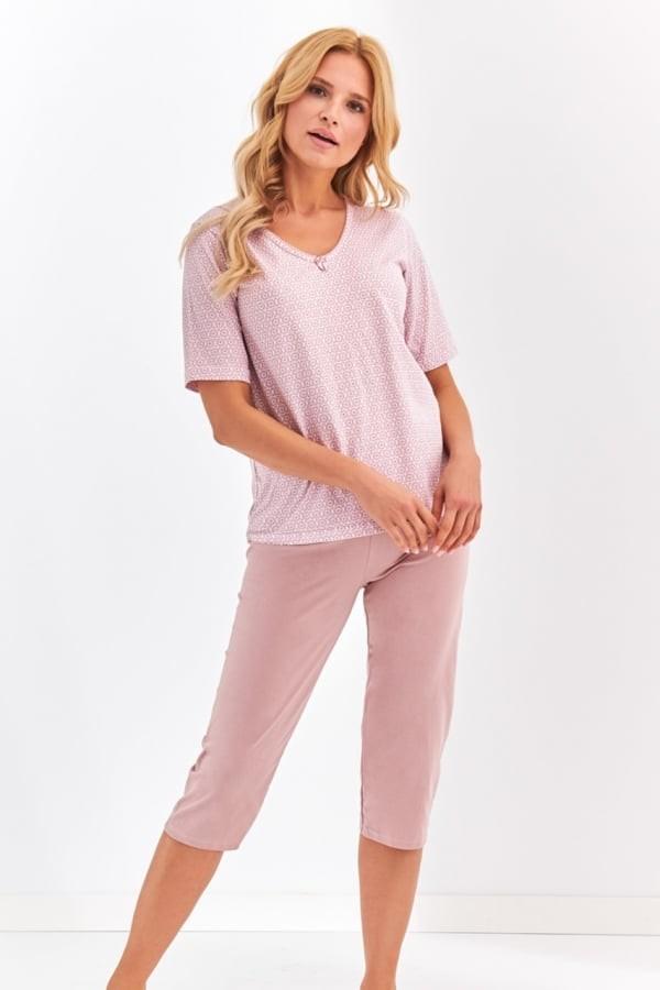 Pijama din bumbac Lidia - Bej Bej L
