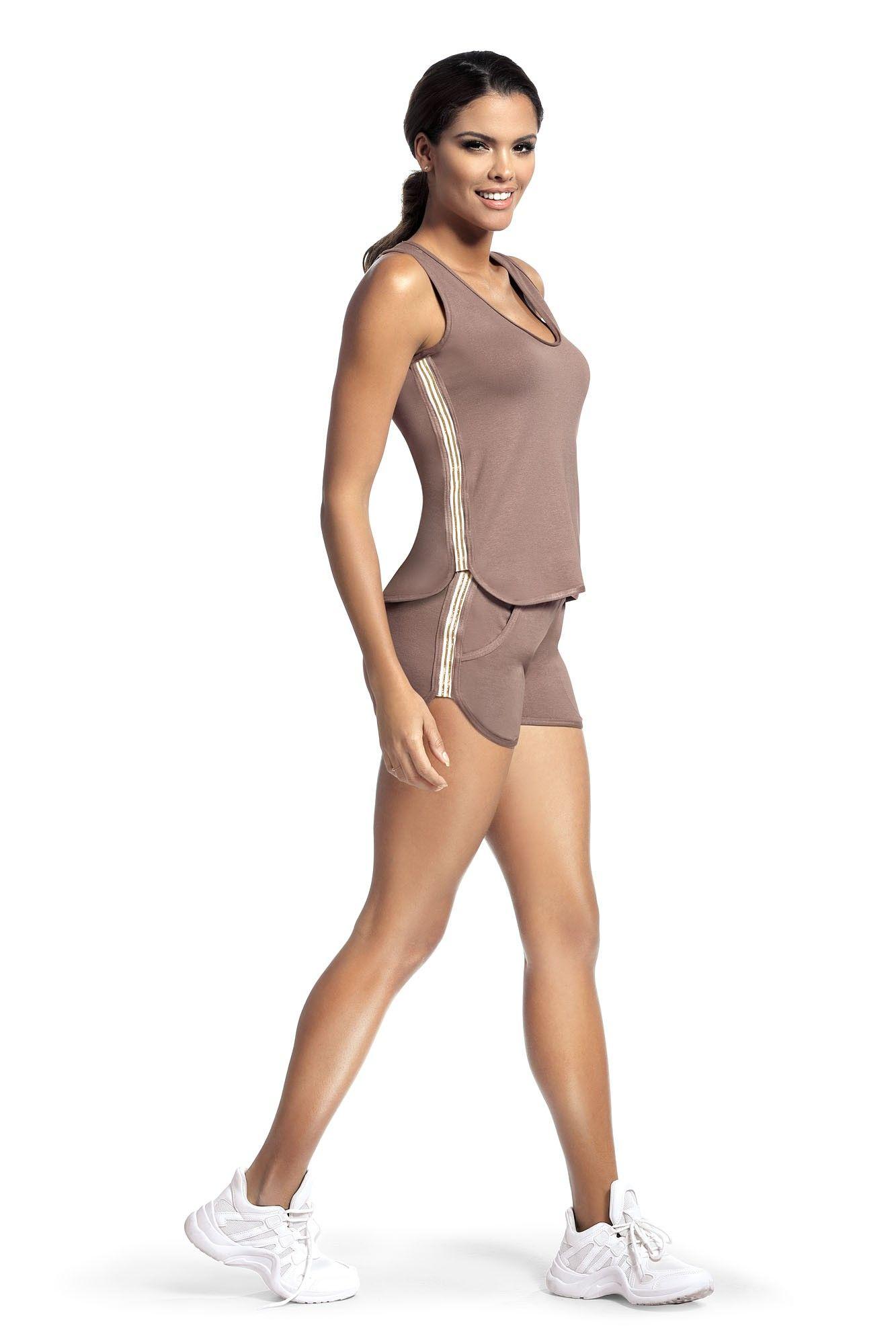 Set sport Argo 1 pantalon scurt - capuccino S