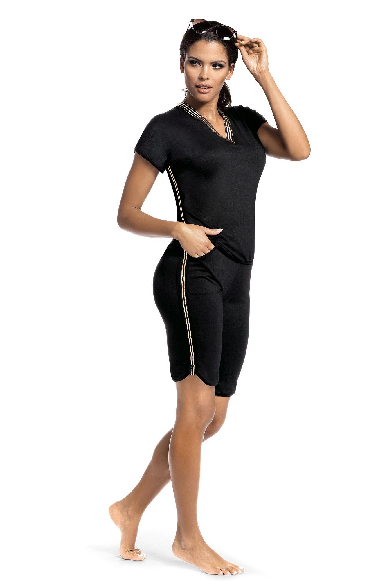 Set sport Argo 2 pantalon scurt - negru S