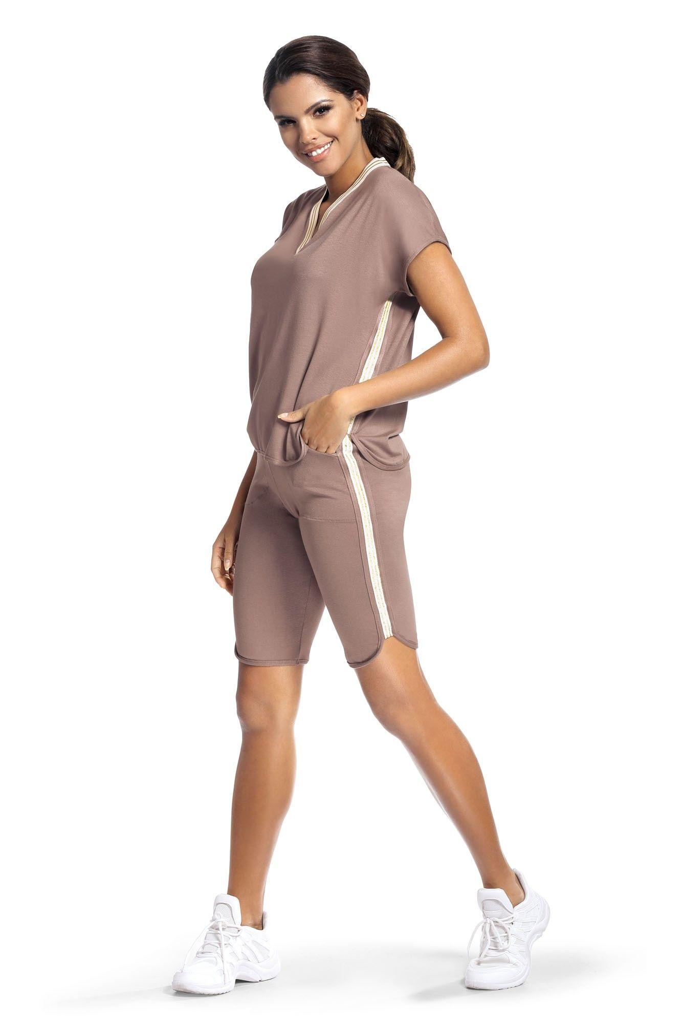 Set sport Argo 2 pantalon scurt - capuccino S