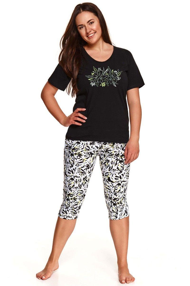 Pijama de dama Taro XXL Daria 2511 - 1 - negru/alb XXL