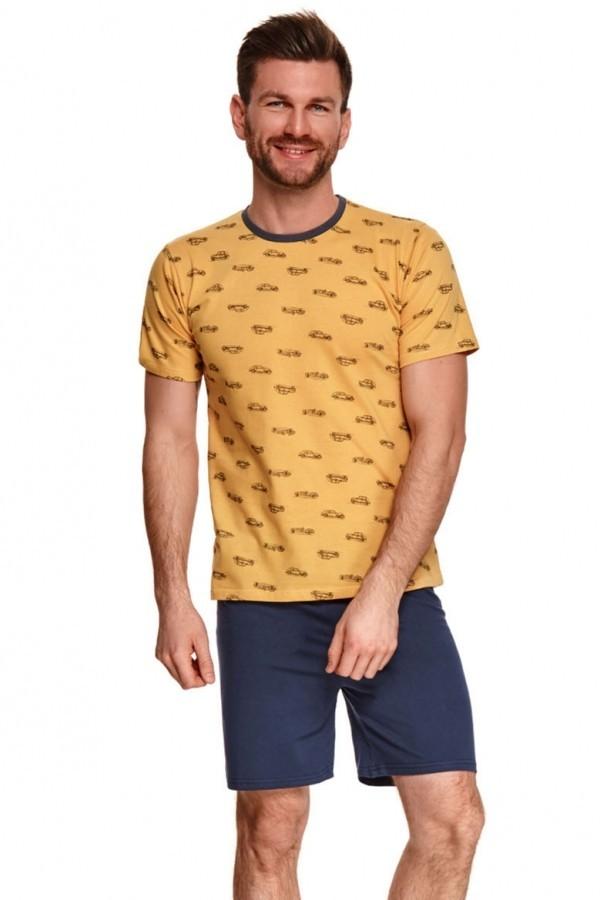 Pijama barbati Max 072-1 - galben mustar XXL