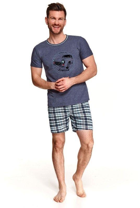 Pijama barbati Szymon 2086 - 2 - albastru M