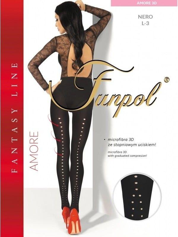 Dresuri Funpol Amore 3D Negru 4 XL